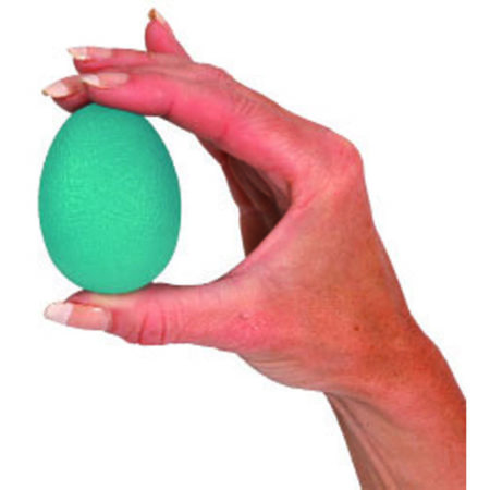Pelotas Huevo para ejercicios manuales de material viscoelástico. Indicado para la rehabilitación de dedos, muñecas y manos.