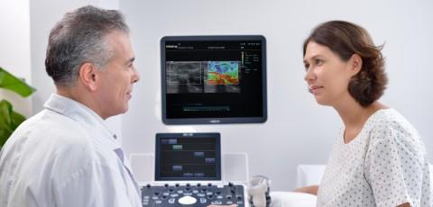 ecógrafo con eSpacial Navi, agujas de diagnóstico por imagen